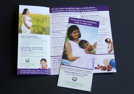 image of the MotherToBaby pregnancy studies brochure