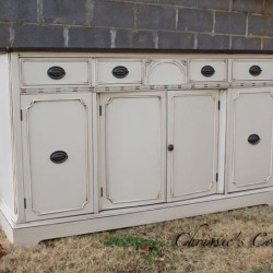 Buffet in Antique White Milk Paint and Java Gel Stain With Van Dyke