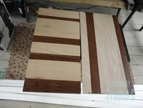 Create a Striped Panel with Stain and Plywood SANY0659