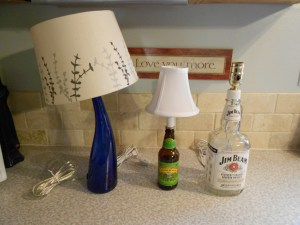 How to Make a Lamp with a Liquor Bottle 16