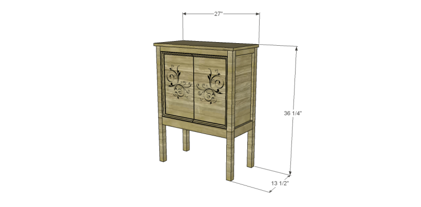 Free Plans to Build a Pier One Inspired Rivet Cabinet