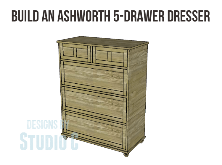Free Plans to Build a Pier One Inspired Ashworth 5-Drawer Dresser_Copy