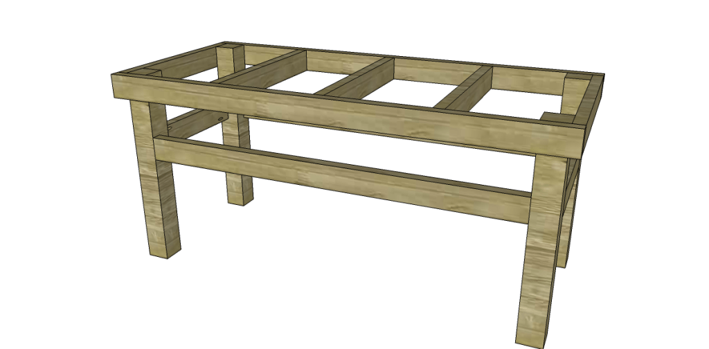 how to build an easy work table_ Stretchers