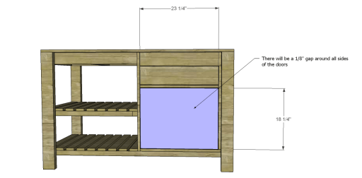 Free Plans to Build a New American Barnwood Kitchen Island_Doors