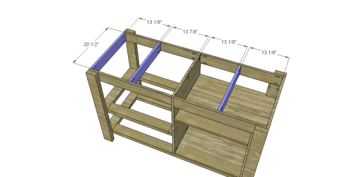 Free Plans to Build a New American Barnwood Kitchen Island_Top Supports
