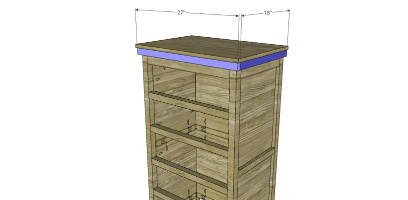 free plans to build a farmhouse chest_Trim