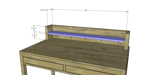 Desk_Hutch Shelf