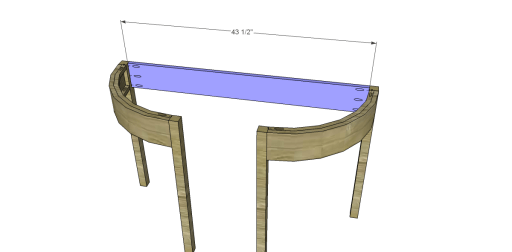 Free Plans to Build a Demilune Console Table_Back Apron