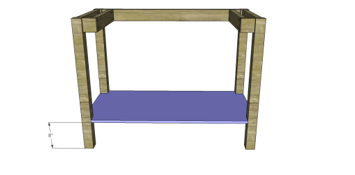 Free Plans to Build a Napa Style Inspired European Garden Table_Shelf 2