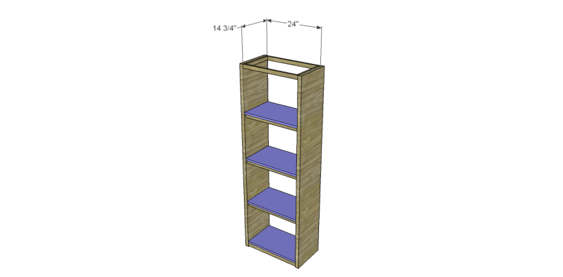 how to build a bookcase using an old door_Shelves