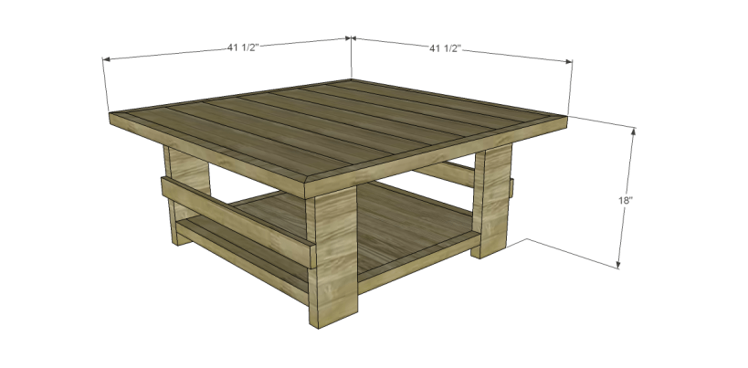 free plans to build a joss main inspired hammary luberon coffee table