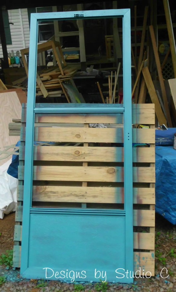 How to Make a Cork Board out of an Old Screen Door SANY2130