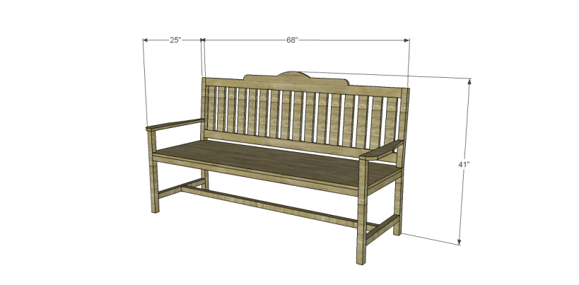 free plans to build a bench with arms