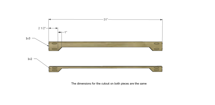 free plans to build an ll bean inspired large bench_Stretchers 1