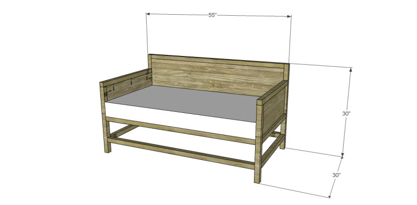free plans to build a world market inspired raya daybed
