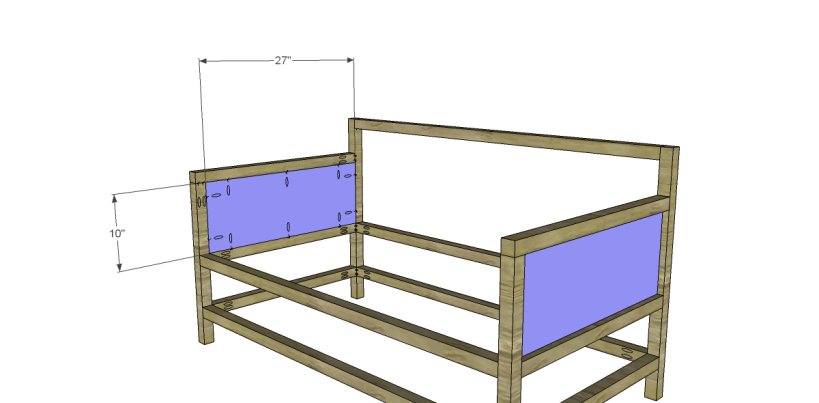 free plans to build a world market inspired raya daybed_Side Panels