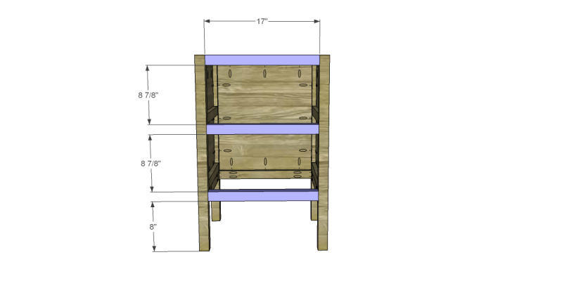 free plans to build a sereno desk_Front Stretchers