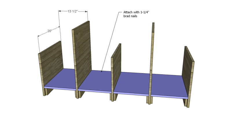free plans to build a marconi media console_Shelves