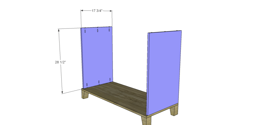 free DIY woodworking plans to build a two door sideboard_Sides