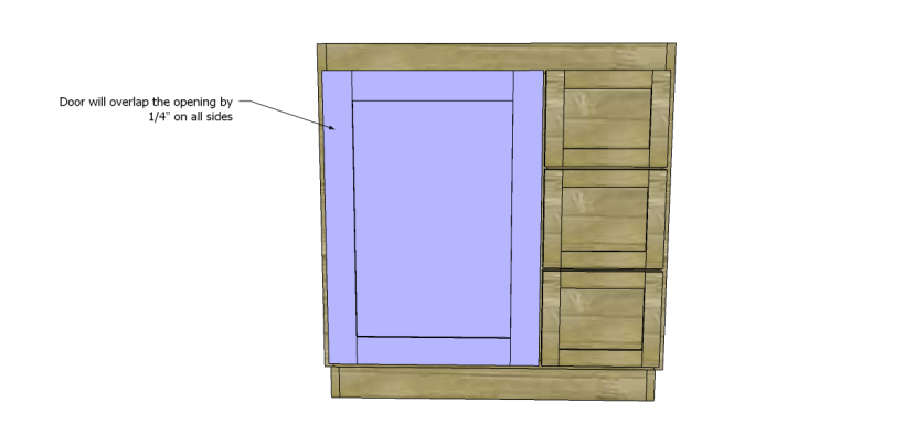 free DIY woodworking plans to build a custom bath vanity_Door 2