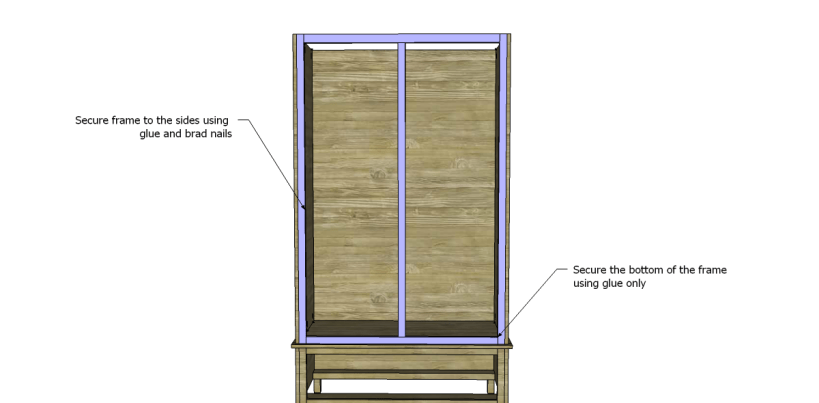 free DIY woodworking plans to build a large armoire_Front Frame 2
