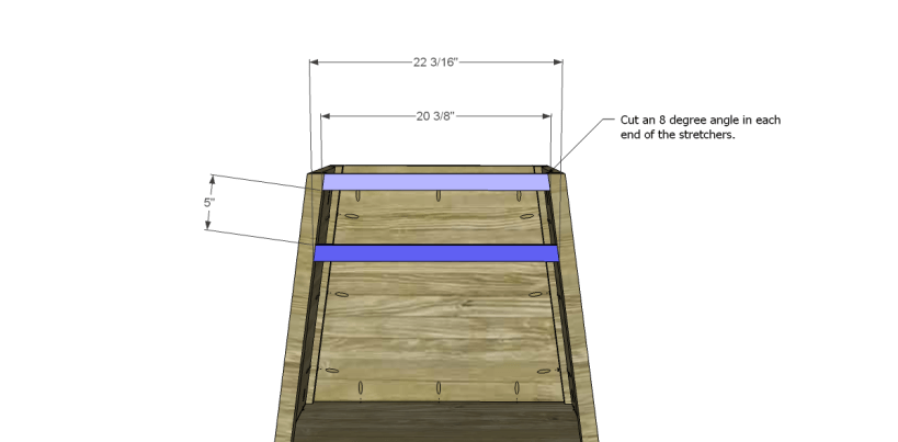 free DIY woodworking plans to build an asian style cabinet _Stretchers