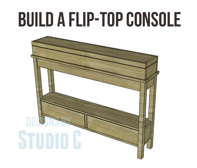 Free diy woodworking plans to build a flip top console for Flip top picnic table plans