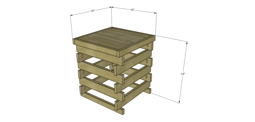 build stacked end table