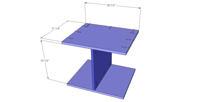 diy vintage table plans_Shelf 1