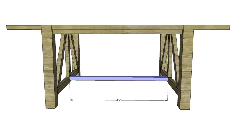 castleton dining table plans_Stretcher