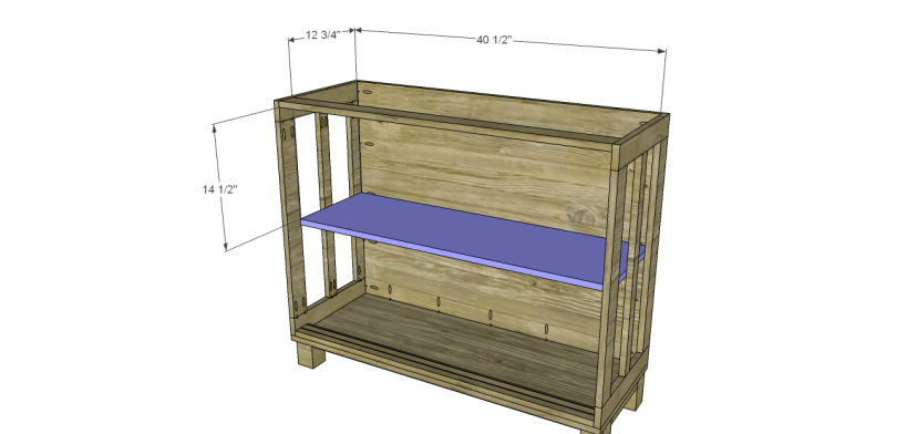 free furniture plans build pacific kitchen island_Shelf