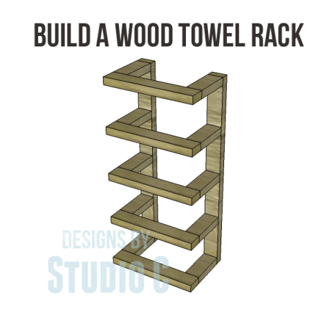 free furniture plans build wood towel rack_Copy