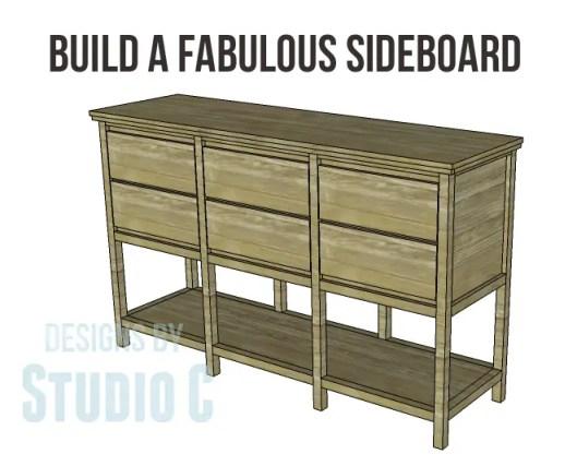 free furniture plans build sundown retreat sideboard_Copy