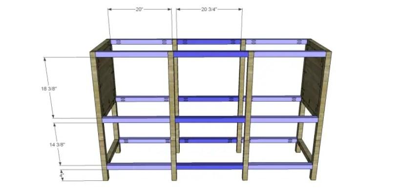 free furniture plans build sundown retreat sideboard_Stretchers