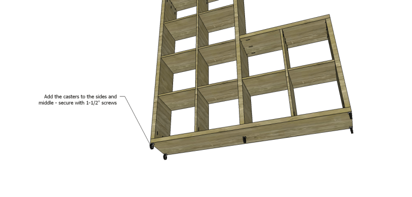 cascade bookcase plans_Casters
