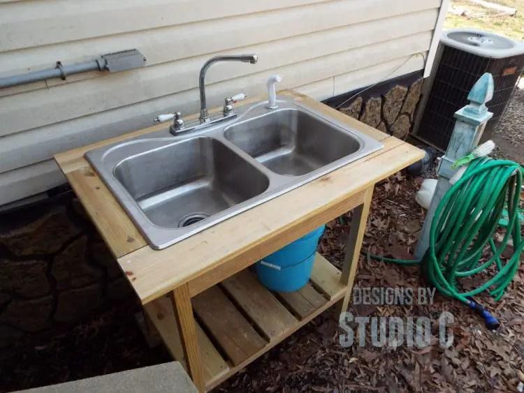 diy outdoor sink