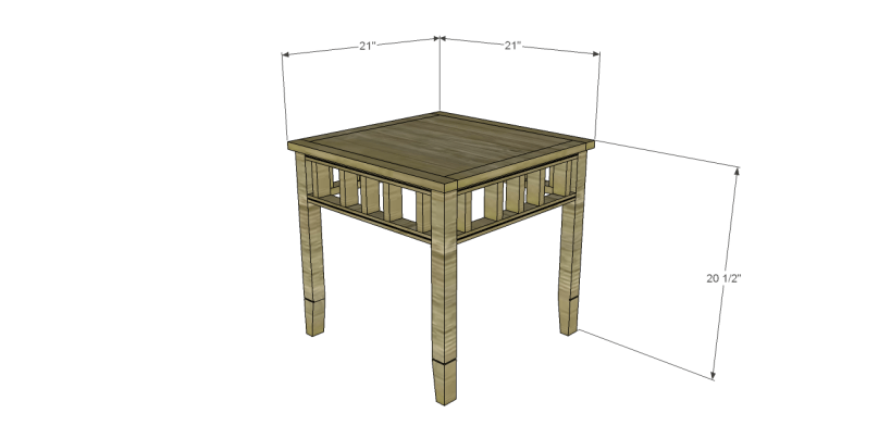 plans build bandengan side table
