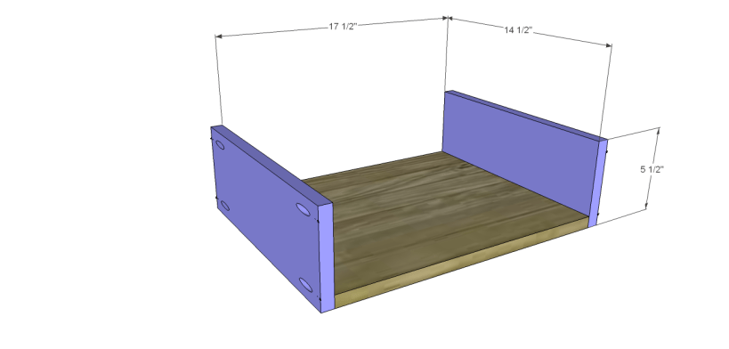 plans build esmerelda buffet-Outer Drawers BS