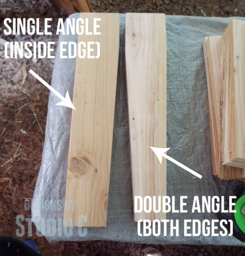 how to use a tapering jig to cut an equal angle  DSCF1473