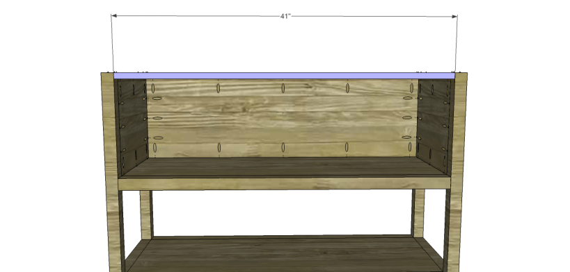 ronen sideboard plans-Upper Stretcher