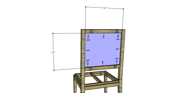 Luna Dining Chair Plans-Back