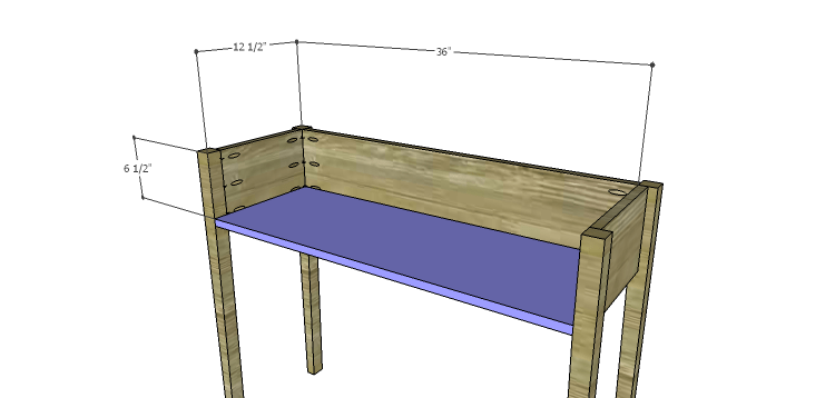 Miriam Console Table Plans-Bottom