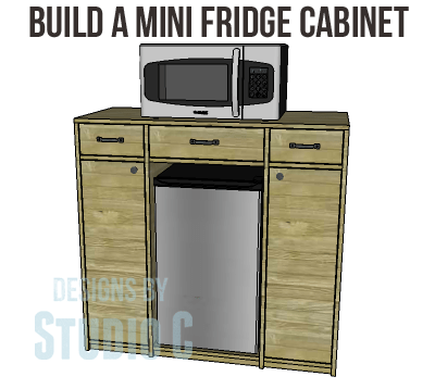 DIY Mini Fridge Cabinet Plans-Copy