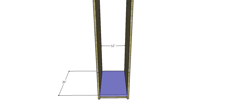 DIY Mini Fridge Cabinet Plans-Side Bottom