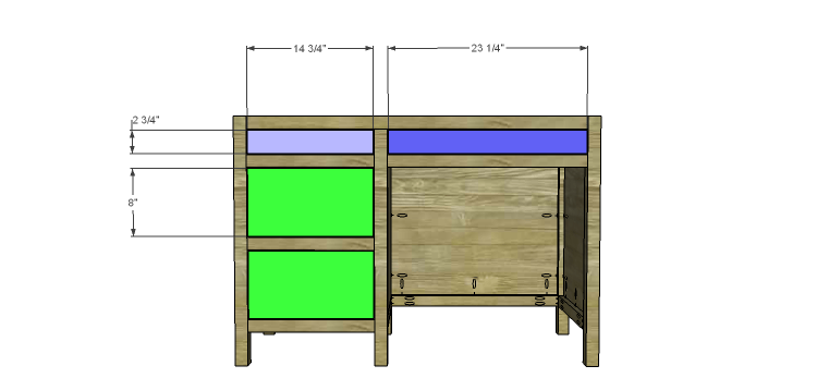 DIY Plans to Build a Vintage Style Desk-drawers