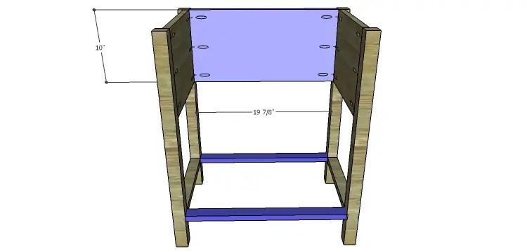 Presley 5-Drawer Table Plans-Back & Lower Stretchers