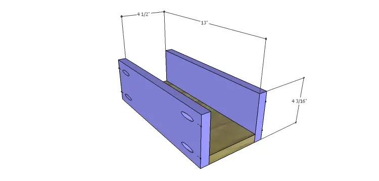 Presley 5-Drawer Table Plans-Sm Drawer BS
