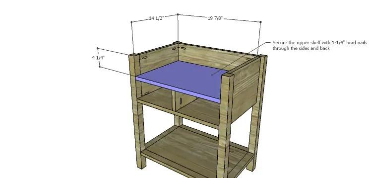 Presley 5-Drawer Table Plans-Upper Shelf