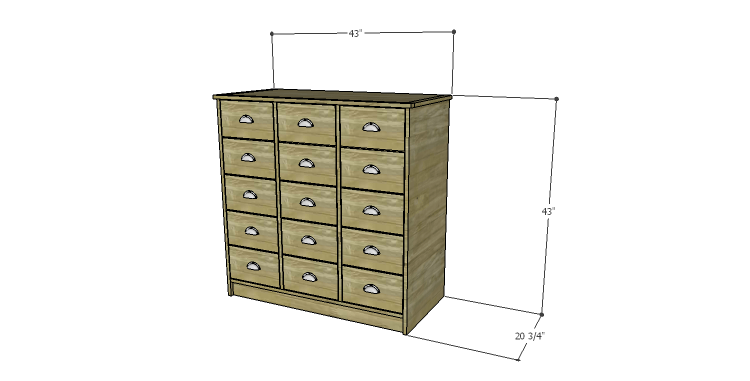 DIY Plans to Build a Howell Bar Cabinet