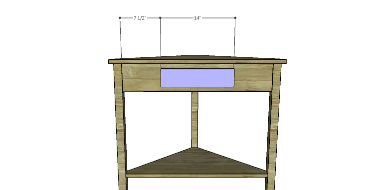 how to build a corner table